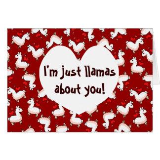 Llamas Madness Greeting Card