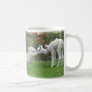 Llamas mamá e hijo - Perú Tazas De Café