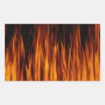 llamas pegatina rectangular
