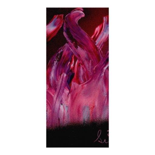 Llamas púrpuras y negras en pintura de aerosol plantilla de lona