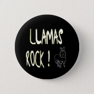 Llamas Rock! Button