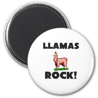 Llamas Rock 2 Inch Round Magnet