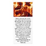 Llamas rojas intensas estupendas tarjeta publicitaria