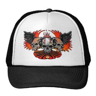 Llamas traviesas Phoenix de las alas de los cráneo Gorra