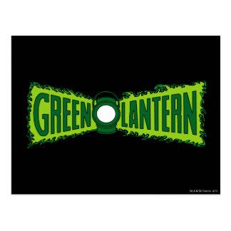 Llamas verdes del logotipo tarjetas postales