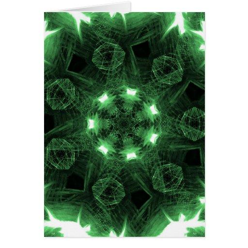 Llamas verdes tarjeta de felicitación