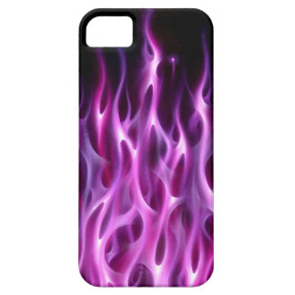 Llamas violetas - caso del iPhone 5 iPhone 5 Case-Mate Cobertura