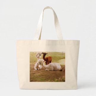 Llamas With Baby Cria Large Tote Bag