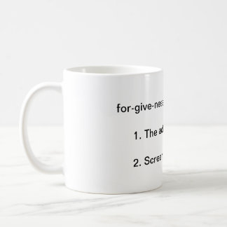 Llamas with Hats: Forgivness Definition Coffee Mug