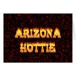 Llamas y fuego de Arizona Hottie Felicitaciones
