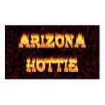 Llamas y fuego de Arizona Hottie Plantillas De Tarjetas Personales