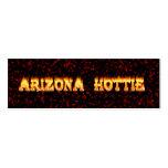 Llamas y fuego de Arizona Hottie Tarjeta De Visita