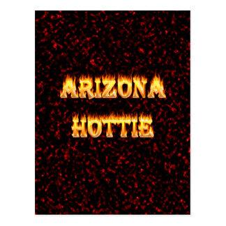 Llamas y fuego de Arizona Hottie Postal