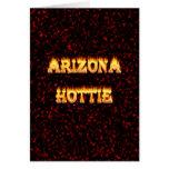 Llamas y fuego de Arizona Hottie Tarjetas