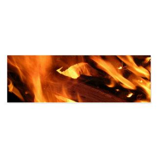 Llamas y fuego tarjetas de visita mini