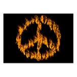 Llamas y signo de la paz de los corazones tarjetas de visita grandes