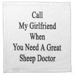 Llame a mi novia cuando usted necesita una gran servilleta de papel