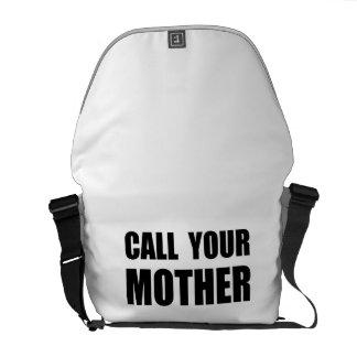 Llame a su madre bolsas de mensajeria