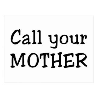 Llame a su madre tarjetas postales