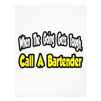 Llame a un camarero tarjeta publicitaria