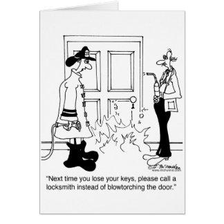 Llame a un cerrajero antes de usar una lámpara de  felicitaciones