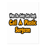 Llame a un cirujano plástico tarjetas postales