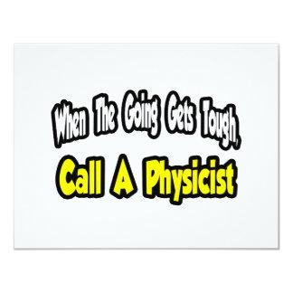 """Llame a un físico invitación 4.25"""" x 5.5"""""""