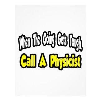 Llame a un físico membrete a diseño