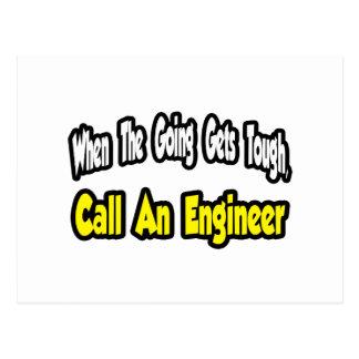Llame a un ingeniero tarjetas postales