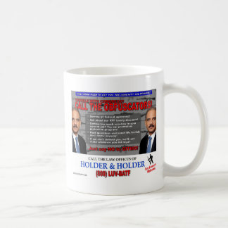 ¡Llame el Obfuscators! Taza de café