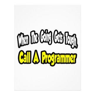 Llame un programador tarjeton