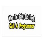 Llame un programador tarjeta postal