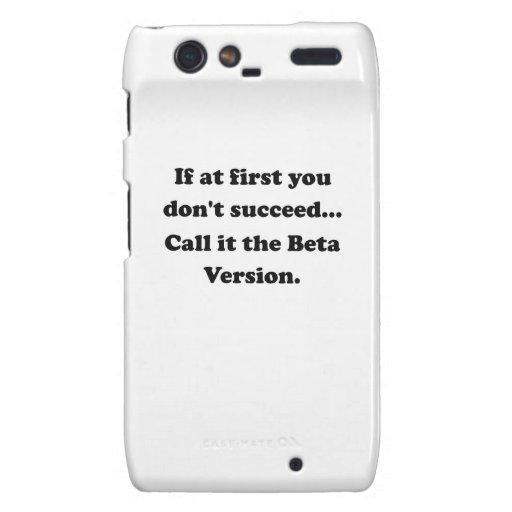 Llámelo la versión beta droid RAZR funda