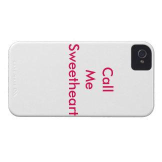 Llámeme amor carcasa para iPhone 4 de Case-Mate