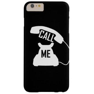 Llámeme blanco del teléfono del vintage en iPhone6 Funda De iPhone 6 Plus Barely There
