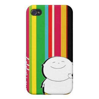 Llámeme caso feliz del muchacho iPhone4 - amarillo iPhone 4 Protector