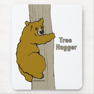Llámeme cojín de ratón loco de Hugger del árbol Mouse Pads