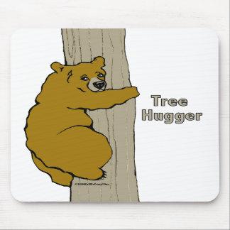 Llámeme cojín de ratón loco de Hugger del árbol Alfombrillas De Ratón