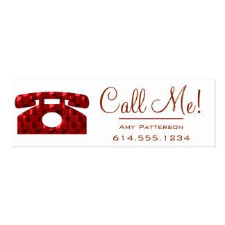 ¡Llámeme El perfil rojo de la datación del teléfo Tarjetas De Visita