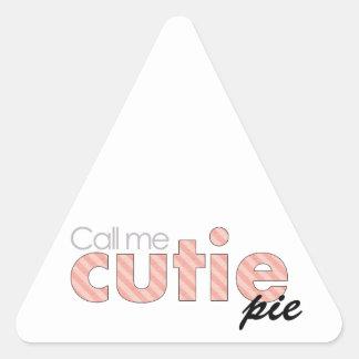 Llámeme empanada de Cutie Pegatina Triangular