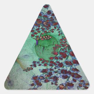 Llámeme extraño pegatina triangular
