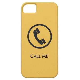 Llámeme iPhone del caso iPhone 5 Funda