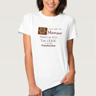 Llámeme Memaw camiseta fresca de la abuela girasol Playera