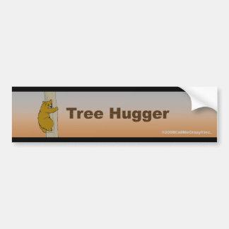 Llámeme pegatina para el parachoques de Hugger del Etiqueta De Parachoque