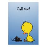 ¡Llámeme! (pequeño pato) Tarjeta De Visita