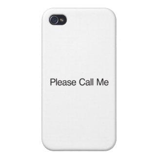 Llámeme por favor iPhone 4/4S fundas