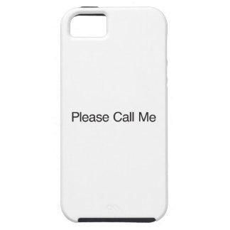 Llámeme por favor iPhone 5 fundas