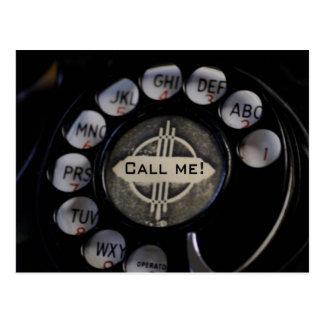 ¡Llámeme por teléfono! Postal