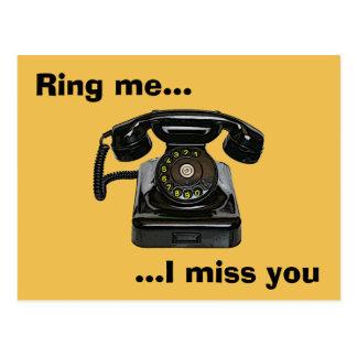 Llámeme… que le falto teléfono del vintage postal