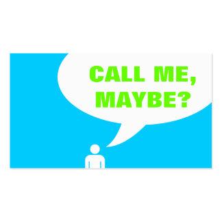 ¿llámeme, quizá? burbuja del discurso (personaliza plantillas de tarjetas de visita
